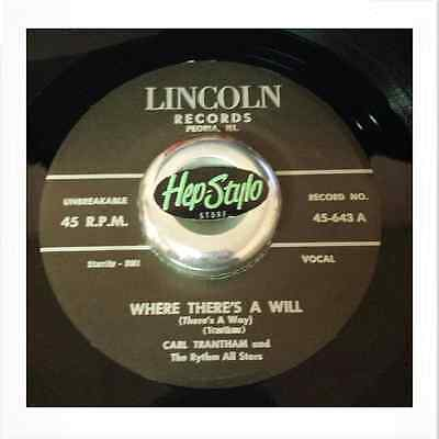 Carl Trantham 45 Re - Where There's A Will - Fantastic Rockabilly Listen!!