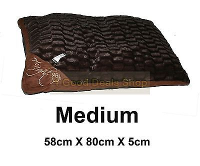 Medium Washable Pet Dog Puppy Cat Bed Soft Warm Basket Pillow Cushion C- Brown