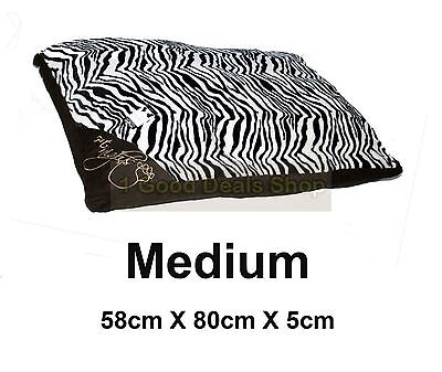 Medium Washable Pet Dog Puppy Cat Bed Soft Warm Basket Pillow Cushion Zebra