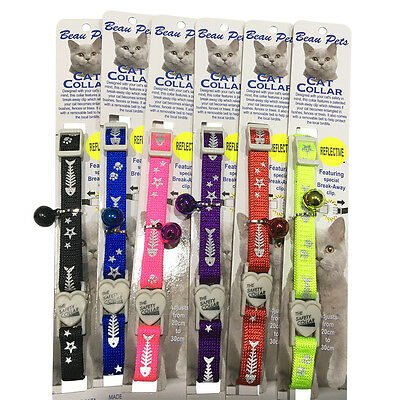 Collar Cat Kitten Dog Puppy Pet Safety Release Adjustable Reflective Breakaway