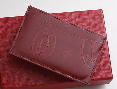 G7525M Authentic Cartier Happy Birthday Business & Credit Card Case
