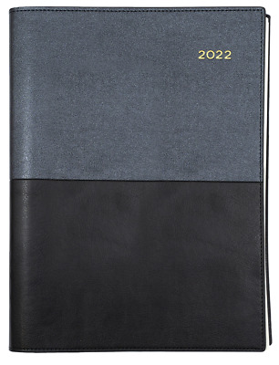 2018 Collins Vanessa A5 Day to A Page DTP Spiral Diary Hourly 185.V99-18 BLACK