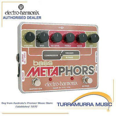 Electro-Harmonix Bass Metaphors Preamp EQ Distortion Compressor Effects Pedal FX