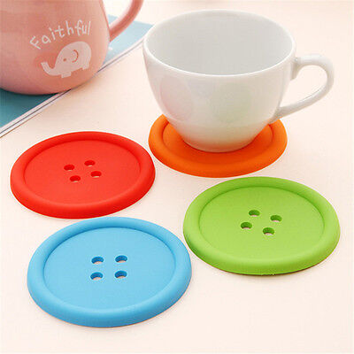 Heat-resistance Anti-slip Round Button Coaster durable Cup Cushion Holder Place