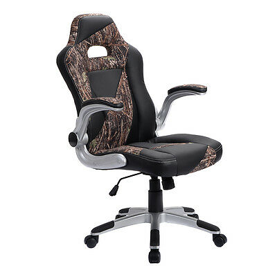 PU Leather High Back Executive Office Desk Task Computer Chair Green Camo New