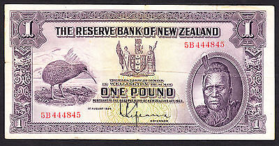 New Zealand 1934  Pound £1  L.Lefeaux P. 155 F+  Note RARE