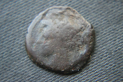 RARE ANCIENT GREEK CARTHAGE PUNIC COIN 2nd CENTURY BC