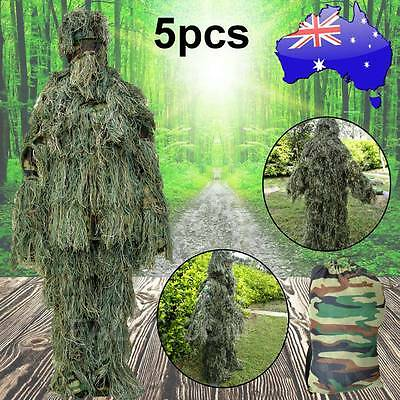 5p Ghillie Suit Camo Clothing Woodland Hunting Sniper Archery Sniper Camouflage