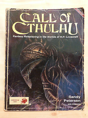 Call of Cthulhu Game Book 4th Edition 1989 Chaosium 2324 WELL USED CONDITION