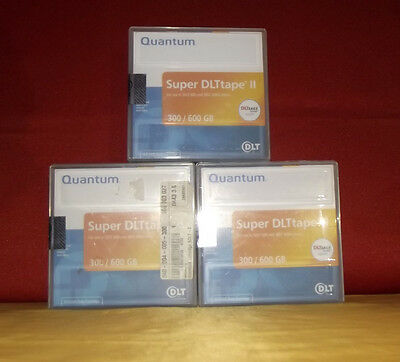 3x QUANTUM Super DLTtape II Cartridges 600GB Media SDLT 2 HP Compaq Fujitsu NEU✔