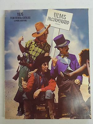1975 FILMS INCORPORATED Film Catalog Marx Brothers That's Entertainment Cover