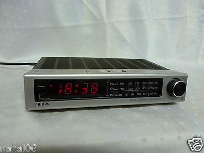 Philips Radiowecker AS 390 Uhrenradio Wecker 70er Jahre Electronic Clock Radio