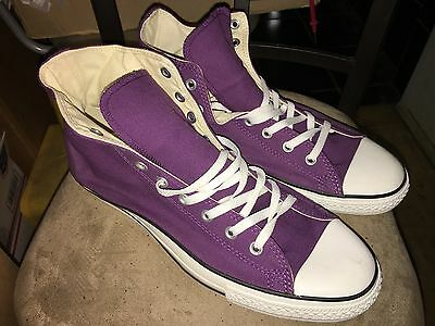 New Purple CONVERSE ALL STAR Canvas HI-TOPS sneakers shoes 13
