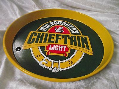 YOUNGERS CHIFTAIN LIGHT Vintage  Advertising Pub Bar Beer tray Retro  LOT 2