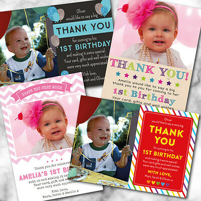 Personalised A6 Birthday Thank You Cards *Any Age* - Boy or Girl