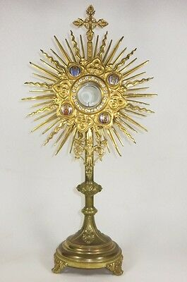 Ostensoir Neogothique 19Eme 4 Evangelistes Antique Monstrance 4 Evangelists 19Th