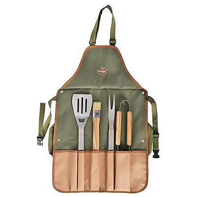 Bbq Tool & Apron Set Grill Barbecue Tools Utensil Cooking Barbeque Camping