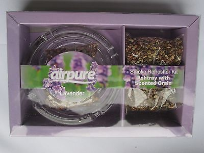Airpure Air Fresh Smoke Refresher Kits With Ashtray  Lavender Scented Grains