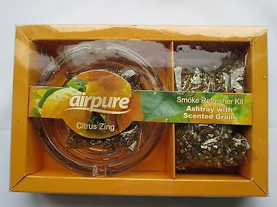 Airpure Air Fresh Smoke Refresher Kits With Ashtray Citrus Zing Scented Grains