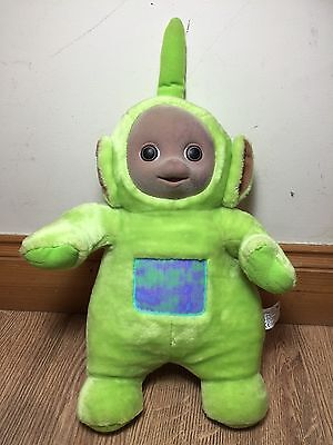 Original Teletubbies Dipsy Vintage Soft Face Doll Green Figure 1996 TOMY