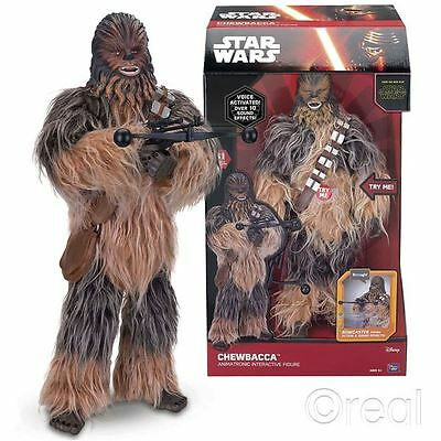 "New Star Wars 17"" Chewbacca Animatronic Interactive Figure Disney Official"