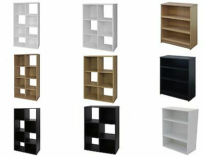 Storage Cube Display Bookcase 4 Shelves Tier Shelving Unit Book Shelf -1041