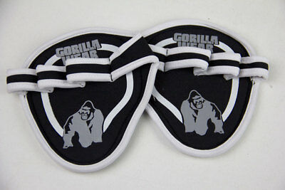 Gorilla Wear Palm Grip Pads Black / Gray Weight Lifting Training Accessories