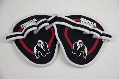 Gorilla Wear Palm Grip Pads Black / Red Weight Lifting Training Accessories