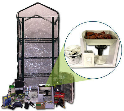 Mushroom Ecosphere Growing Kit - Custom Heated Greenhouse - Complete Grow System