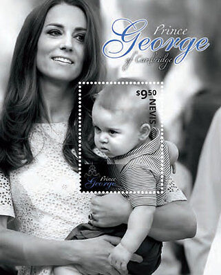 Nevis Stamp 2014 Kate & Prince George M/s Sheet