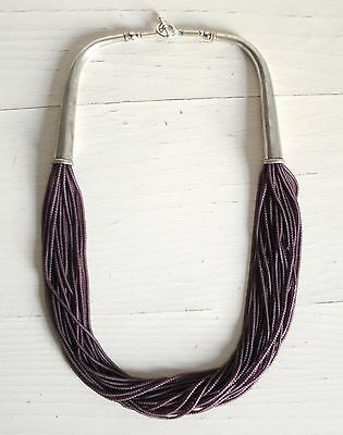 COLLANA DONNA ARGENTO INDIANO E AMETISTA NECKLACE INDIAN SiLVER AND AMETHYST