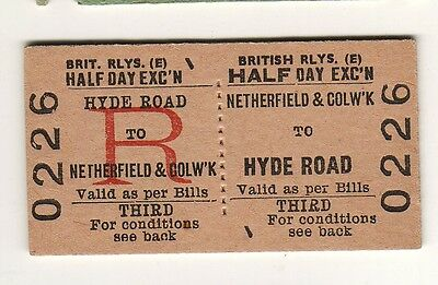 Railway ticket BR(E) Netherfield & Colwick - Hyde Road