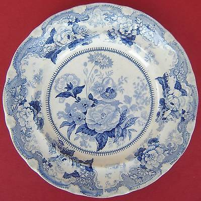 Pearlware Small Plate Blue & White Floral c1825