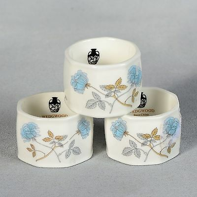 "3 Wedgwood ""ice Rose"" Napkin Rings"