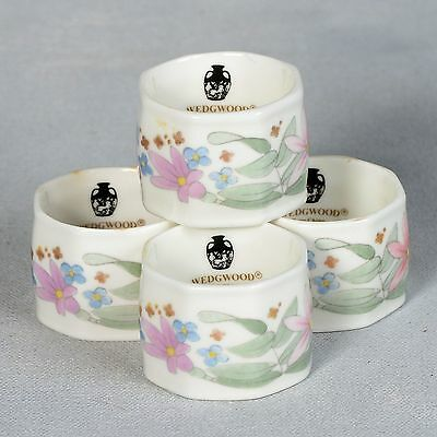 "4 Wedgwood ""meadow Sweet"" Napkin Rings"