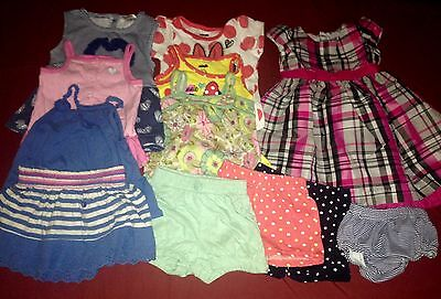 Lot Of 12 Spring / Summer Baby Girl Clothes ~ Size 18 Months~Exc Cond!