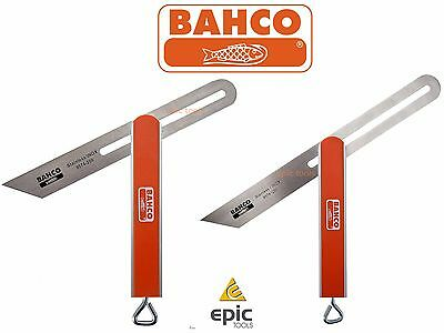 BAHCO Aluminium Sliding Angle Bevel With Stainless Steel Blade, 200mm Or 250mm
