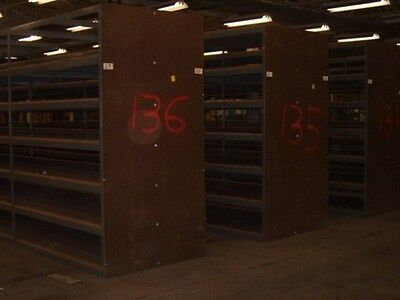 30' Long Row of 4' x 6' Heavy-Duty Warehouse Shelving Units - $500