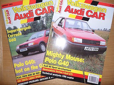 "Volkswagen Polo G40 Coupe 1991 ""VW Audi"" Road Test Magazines"