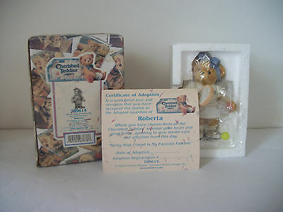 "Cherished Teddy Figurine NIB Roberta ""Being Your Friend Is My Favorite Pastime"""