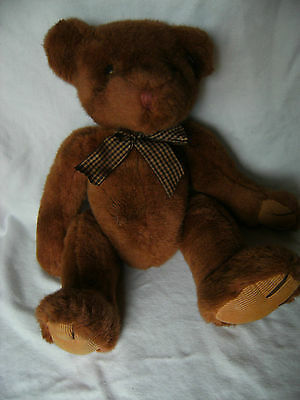 """Collectable Rare Russ Berrie BROMLEY Brown Bear Plush Toy 15"""" VGC"""