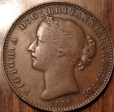 """1856 Nova Scotia One Penny Token In Great Condition """"no Lcw"""""""