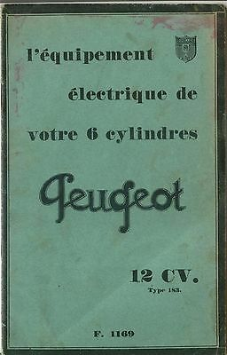 Peugeot Ducellier original Electrical Equipment 6 cylinder 12CV Type183 FRENCH