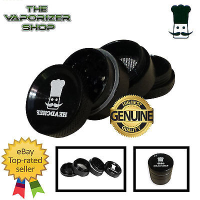 Black Head Chef Top Quality Alloy Alluminium Magnetic Herbal Grinder 30mm 4Piece