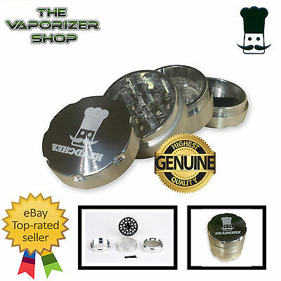Silver Head Chef Top Quality Alloy Alluminium Magnetic Herbal Grinder 40mm 4 Pcs