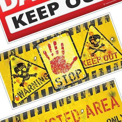 KEEP OUT DOOR SIGN kids boys girls room bedroom warning plaque CHOICE OF DESIGNS