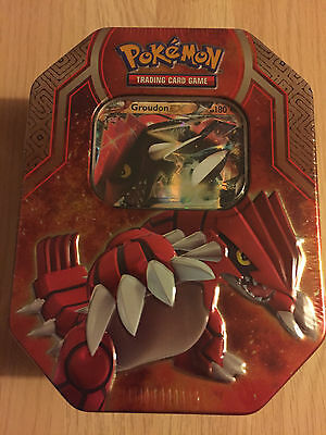 SEALED Groudon EX Legends of Hoenn Tin - Pokemon Trading Card Game