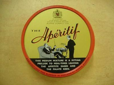 DUNHILL APERITIF 70's Made in England pipe Tobacco Tin 2 Oz Very Clean Grafics