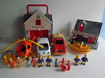 Fireman Sam Play Sets With Lots Of Figures Bundle Toys