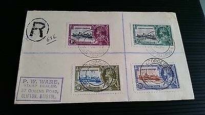Cayman Islands 1935 Sg 108-111 Silver Jubilee First Day Cover